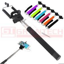 Bastón Monopod Selfie Con Cable Disparador