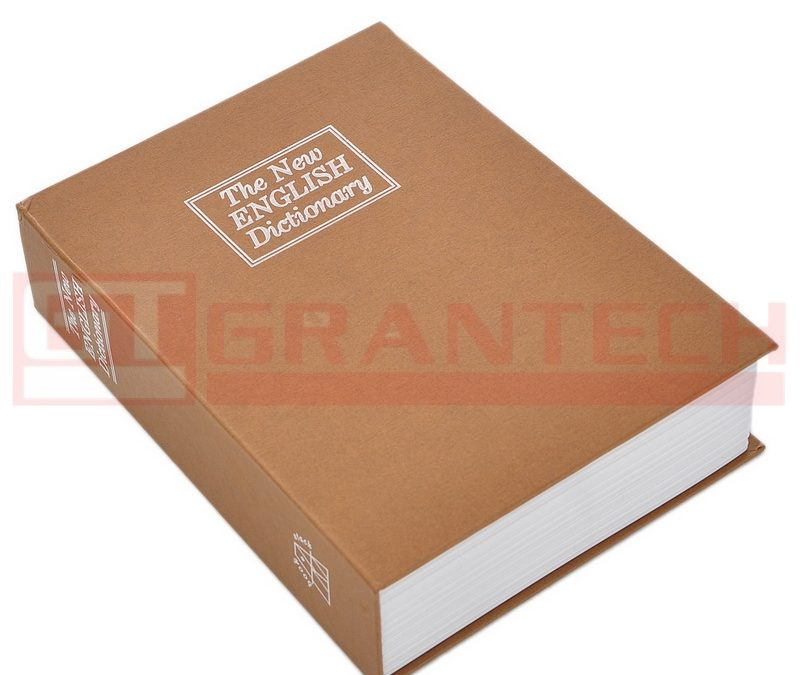 Caja de Valores Grande Tipo Libro
