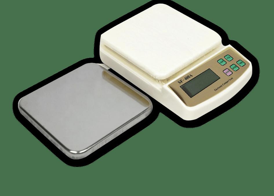 Balanza 1 Kg. / 0,1 Grs. digital de Cocina Plato Metalico SF-400A
