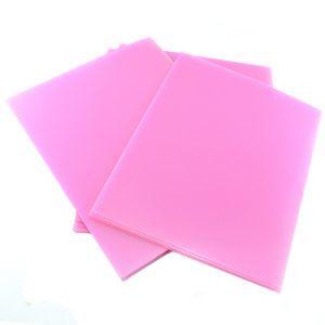 Tapa carta (Gofrada Rosado) 300 micrones 50 Pcs. ANILLAR