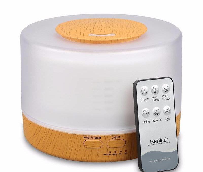 Humidificador Difusor Ultrasonido Aroma Terapia 500 ml Con Control Remoto