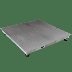 Balanza 2000 Kg. 2 Ton. Acero Inoxidable Plataforma ( 1.2 X 1.2 Mts.)